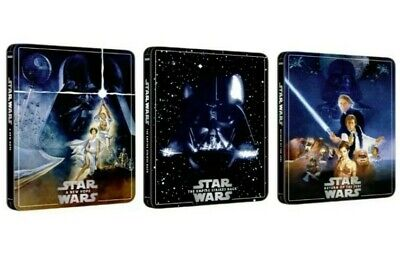 Star Wars Trilogy 4K UHD steelbook set Sold Out New Hope + Empire Strikes + Jedi