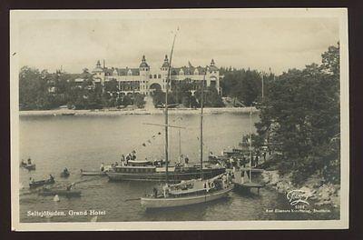 Sweden SALTSJOBADEN Grand Hotel Boats RP PPC