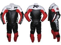 Yamaha Motorbike Leather Racing Suit, CE Approved Armour