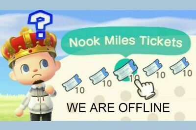 Animal Crossing: New Horizons 💰 400x Nook Miles Tickets 💰 Same Day