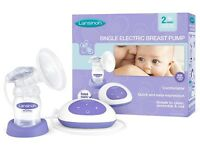 Lansinoh single electric breast pump with brand new bottle boxed