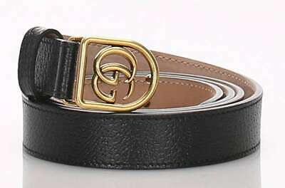 Pre-owned GUCCI 495128 Belt Clothing Leather Black Size: 111cm / Width: 2cm F/S