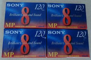 4 SONY Video 8 Standard Grade 8mm Camcorder Cassette