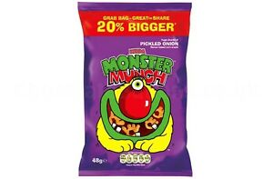 MONSTER MUNCH TAYTO CHEESE & ONION GUINNESS CHIPS CRISPS QUAVERS