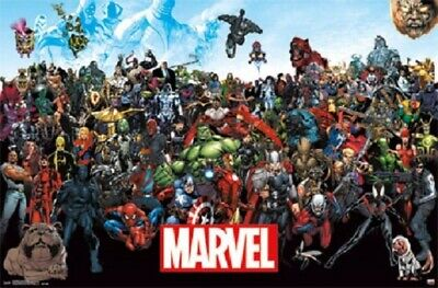 MARVEL SUPER HERO UNIVERSE ALL CHARACTERS POSTER, Size 24x36 - Superhero Poster