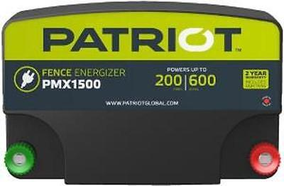 Patriot Pmx1500 Electric Fence Charger Energizer 13 Joule 200mile600acre 110v
