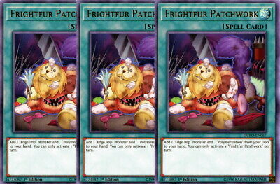 Yugioh Frightfur Patchwork X3 Ultra Rare DUPO 1st Edition Near Mint Playset