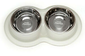 Brand New Totally Pooched Double Dog Dish With Removable Bowls