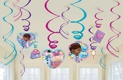 Disney Doc McStuffins Party Swirl Decorations Value Pack 24 Pieces