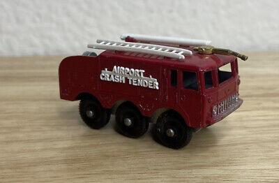 Vintage Lesney Matchbox #63 Foamite Airport Crash Tender Regular Wheel NEAR MINT