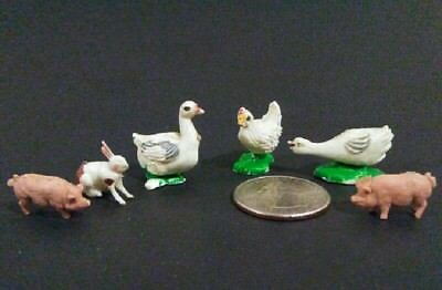 Lot Of Vintage 1970's Miniature Farm Animal Figurines - FREE U.S. SHIPPING!!!!!