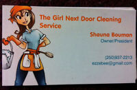 "Housecleaning a chore? Call ""The Girl Next Door""!"