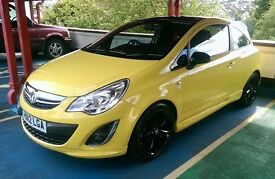 VAUXHALL CORSA LIMITED EDITION 1.2 YELLOW. Low miles satnav bluetooth