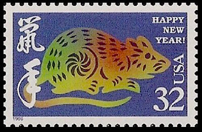 NEW Sheet 20 Chinese Zodiac Lunar Happy New YEAR OF THE RAT STAMPS Paper-Cut Art