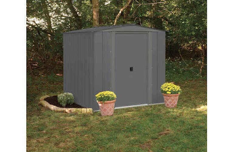 new arrow apex metal garden shed 6 x 7 outdoor garden sheds tools storage toys