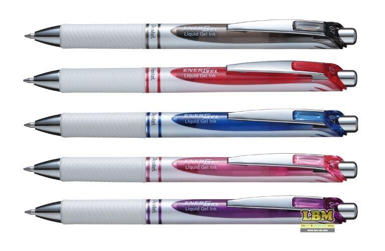 choose colour Pentel BL77 PW EnerGel Pearl Deluxe Retractable Pen 0.7mm Tip