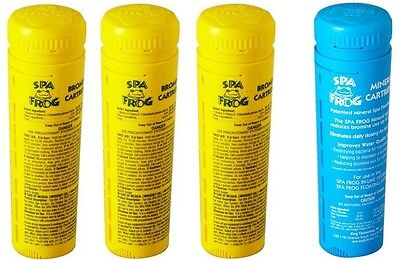 FREE 2-3 DAY SHIPPING Spa Frog Kit 4 pack 3 Bromine & 1 Mineral Cartridge