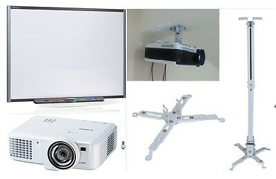 77 Sb680 Smart Board Interactive Whiteboard Hdmi Projector Ceiling Mount