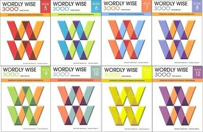 3RD EDITION Wordly Wise 3000 Grade 5 - 12 Student Books