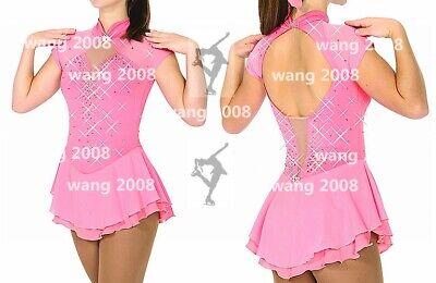 Toffee Pink Lycra SALE Skating Dress Pink HologramStar