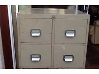 Steel Vintage 4 drawer library card cabinet
