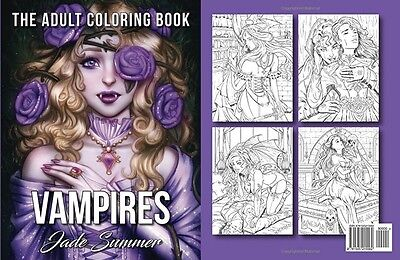 Купить Vampires The Adult Coloring Book Paperback Color Relax Art Fantasy Book Grown-Up