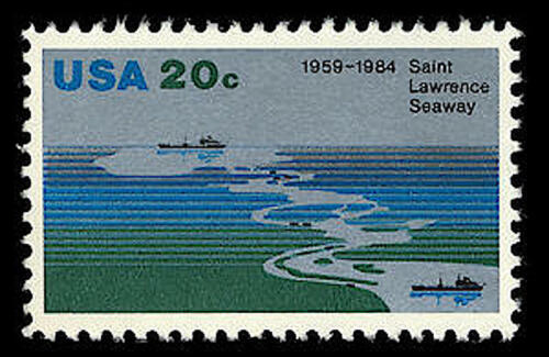 4 SAINT ST LAWRENCE SEAWAY STAMPS: 1959-1984, 25th Anniversary, Ontario, Quebec