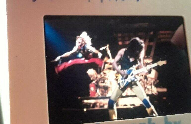 "Eddie Van Halen David Lee Roth ""JUMP"" Pro Slide Photo make poster"