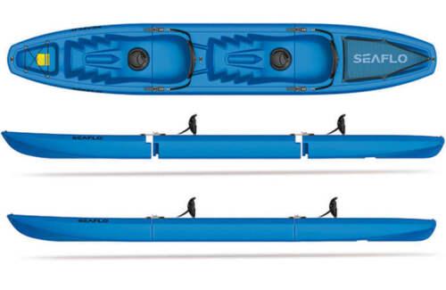 BLUE SEAFLO Tandem 3-Piece Modular Kayak 2-Person Sit-On-Top Model SF-3001T
