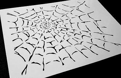 SPIDER COBWEB Airbrushing Stencil Background Halloween Body Cars Painting Web](Halloween Spider Stencil)