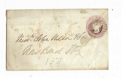 184? Great Britain 1d PINK Canceled Cover