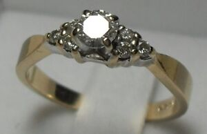 "14kt yellow gold ""Diamond"" Engagement Ring/size 6.50"