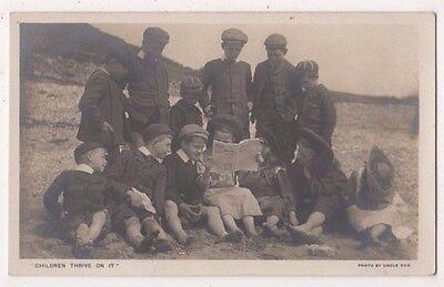 Children Thrive On It, Uncle Ned, Wesleyan Methodist Society RP Postcard, B719