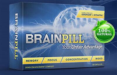 Brain Pill Enhancement Complex, 100% Natural - (60 Cap)
