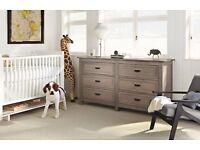 High quality 6 drawer dresser for sale. Light gray color