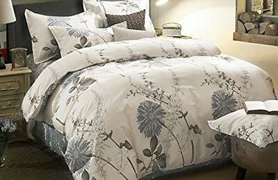 King Size 3 Piece Duvet Cover Pillow Shams Bedding Set 100% Cotton