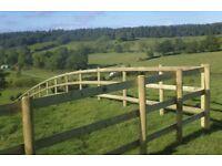 Half Round Fence Posts Paddock Fence Rails Treated Timber Rail Post 90mm 3.6m