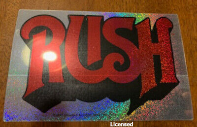 Rush -logo - Sticker licensed  stop buying bootlegs