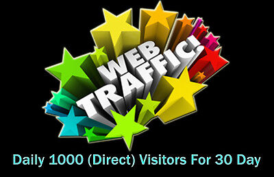 Daily 1000 Direct Website Traffic (adsense safe) for 30 Days