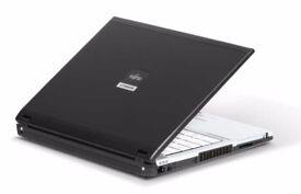 FUJITSU Core 2 duo laptop 2GB Ram 80GB hard drive webcam dvd wifi excellent condition like new