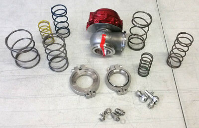 SALE TiAL MVR 44MM WASTEGATE MV R V BAND FLANGES ALL SPRINGS INCLUDED KIT RED
