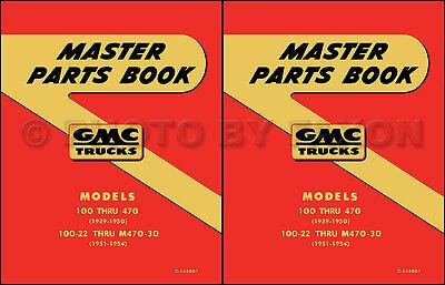 GMC Parts Book 1942 1946 1947 1948 1949 1950 Pickup and Truck Part Catalog