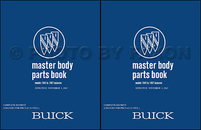 Buick Body Parts Book 1967 1966 1965 1964 1963 1962 1961 Illustrated Catalog