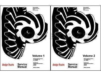 1969 1970 1971 Dodge Truck Shop Manual Pickup Power Wagon Repair Service Book