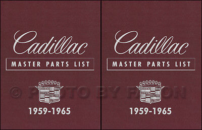 Cadillac Parts Book 1961 1962 1963 1964 1965 Master Part Catalog Illustrated