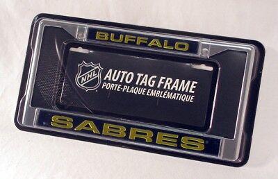 Buffalo Sabres NHL Chrome Metal Laser Cut License Plate Frame