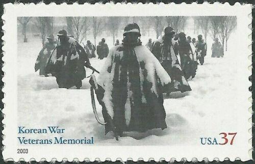 20 Mint KOREAN WAR VETERANS MEMORIAL STAMPS: In DC Snow, 1996 John W Alli Photo