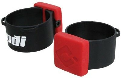 ODI Lock-on Bike Fork Bumpers for RockShox 35mm Boxxer - Red & Black