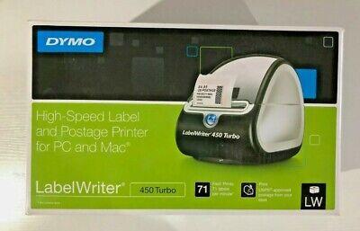 Dymo Labelwriter 450 Turbo Label Thermal Printer - Black 1752265 Mac Pc