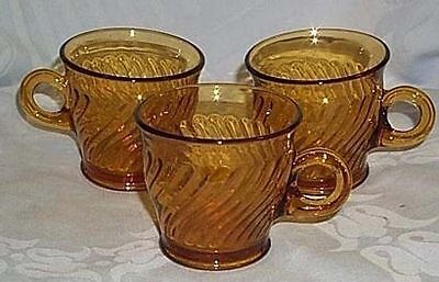 Imperial Twisted Optic amber 3 cups